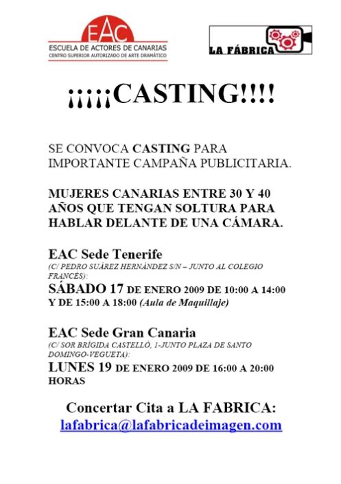 Casting La Fábrica
