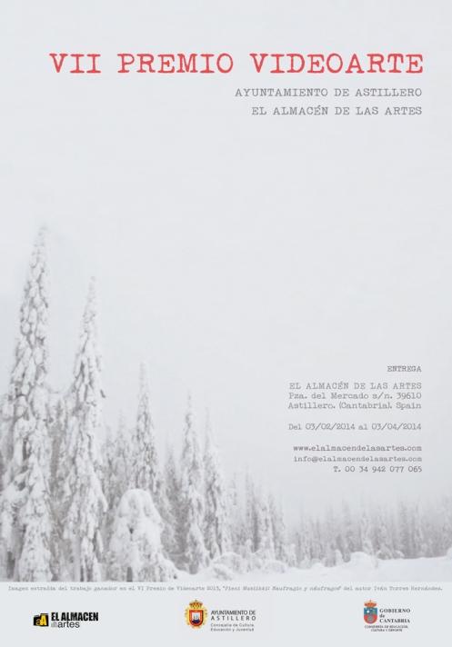 Cartel VII Premio de Videoarte Ayto. Astillero-El Almacén de las Artes